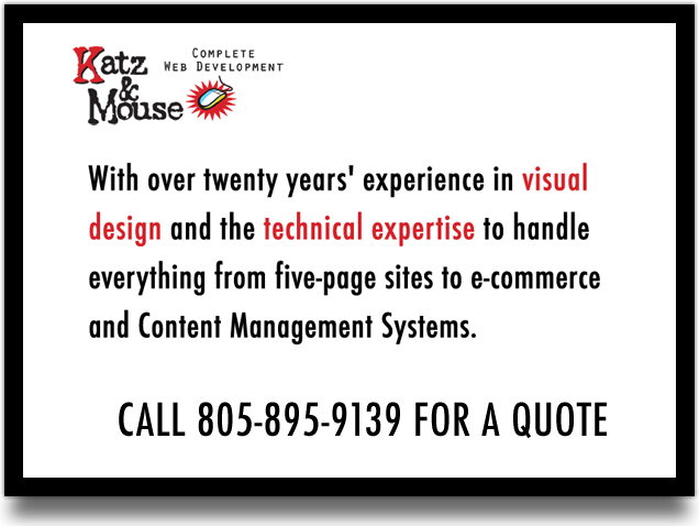 Katz & Mouse Website Design